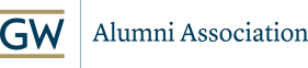 GW Alumni Association logo with GW logo and text of GW Alumni Association beside it.