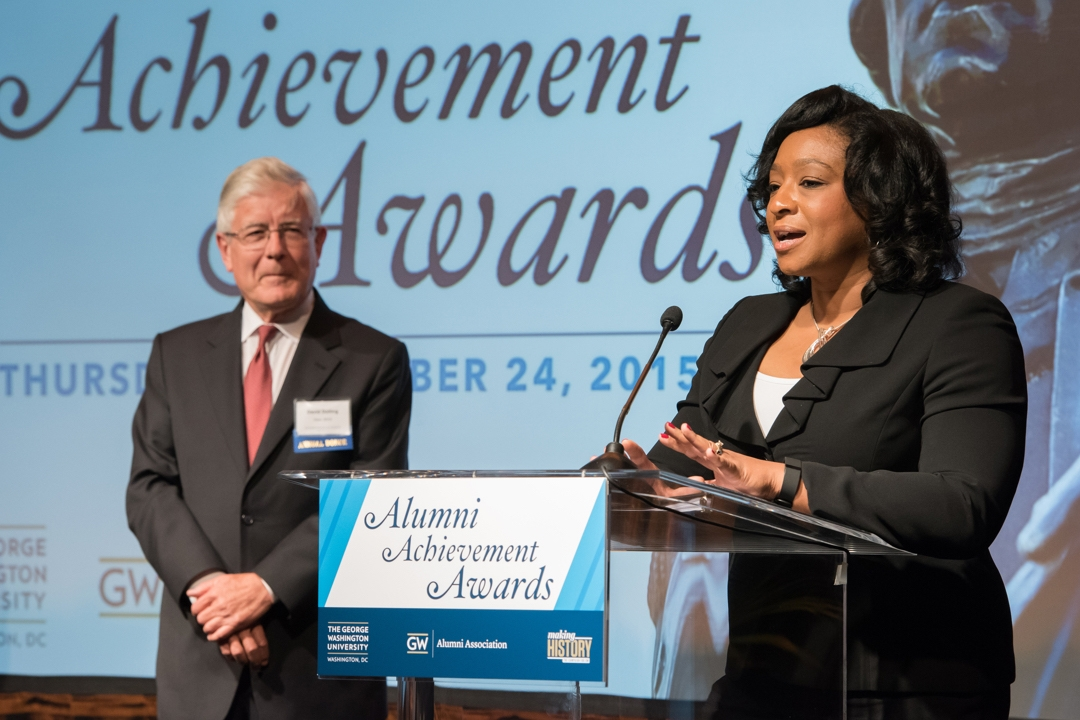 Christyl C. Johnson, SEAS, Ph.D '12, recipient of the Alumni Outstanding Achievement Award