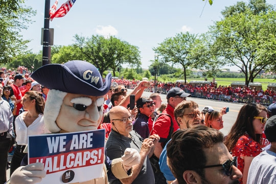 George joined fans at the Washington Capitals victory parade in June